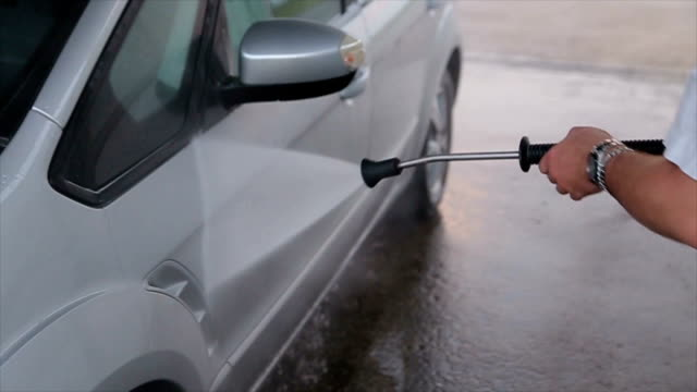 a man washes his car - polishing stock videos & royalty-free footage