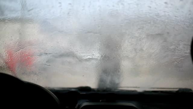 man washing car - windscreen stock videos & royalty-free footage