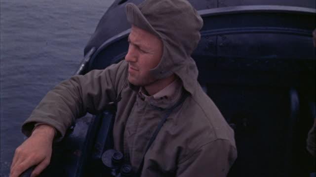 ms man watching at sea  - binoculars stock videos & royalty-free footage
