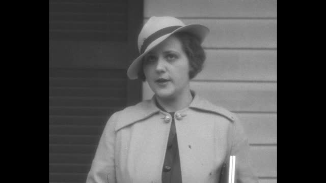 man wearing hat talking to camera / woman wearing hat talking to camera / young woman wearing hat talks to camera, may be mary ann baxter, the only... - school child stock videos & royalty-free footage