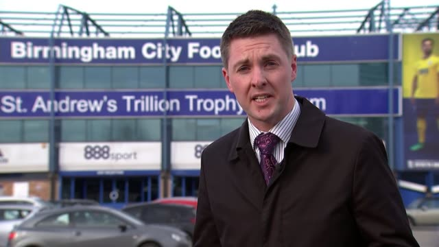 Man who attacked Jack Grealish during Birmingham derby jailed for 14 weeks ENGLAND Birmingham St Andrew's Trillion Trophy Stadium EXT Reporter to...