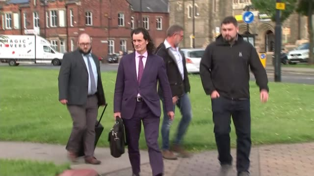 man who threw milkshake at nigel farage ordered to pay him compensation; england: north shields: north tyneside magistrates' court: ext paul crowther... - smoothie stock videos & royalty-free footage