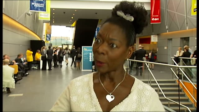 man who witnessed murder of stephen lawrence intends to stand as mayor of london baroness benjamin interview sot brooks into room as sits down - floella benjamin stock videos & royalty-free footage