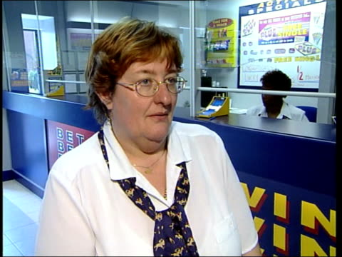 man wins half a million pounds from a 30p bet itn midlands lichfield janet dykes interviewed sot nobody could predict what was going to happen last... - lichfield stock videos & royalty-free footage