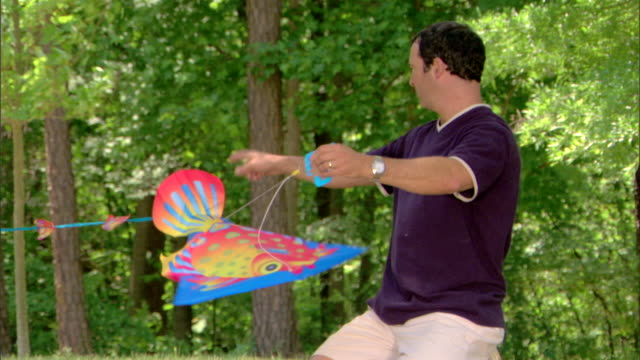 man with a kite - see other clips from this shoot 1428 stock videos & royalty-free footage
