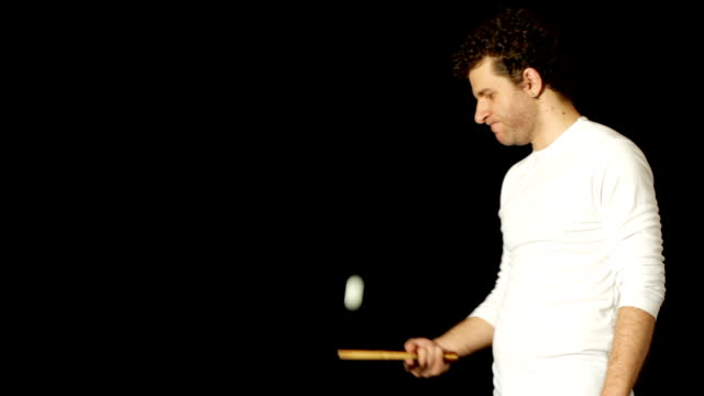man with a ping pong paddle - table tennis bat stock videos & royalty-free footage