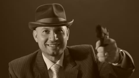 man with bowler hat - 1930 bildbanksvideor och videomaterial från bakom kulisserna