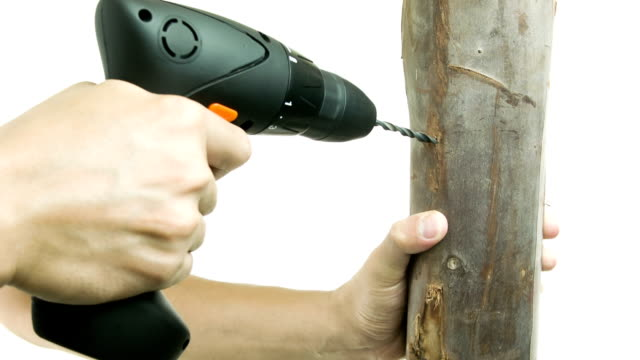 man with electric drill. - washing up glove stock videos & royalty-free footage