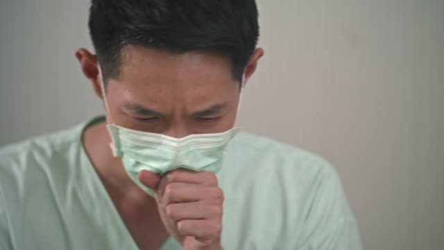 a man with hygienic mask - air pollution stock videos & royalty-free footage
