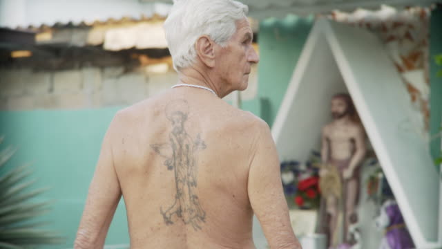 MS Man with tattoo of Saint Lazarus / Havana, Cuba