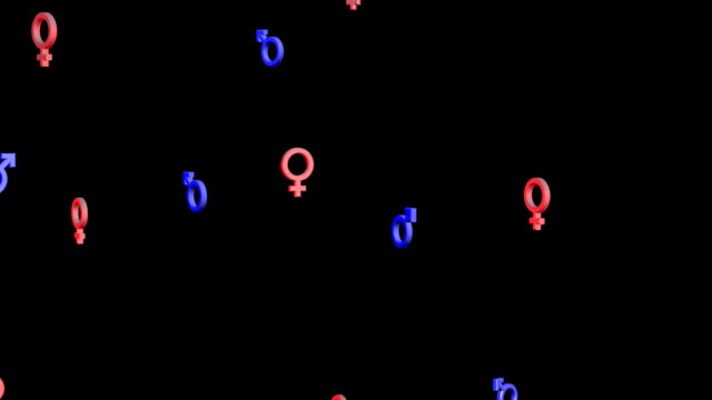 man woman symbols - gender symbol stock videos & royalty-free footage