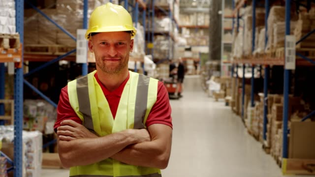 Man working at a warehouse