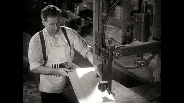 MS Man working in workshop / United States