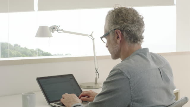 Man working on computer