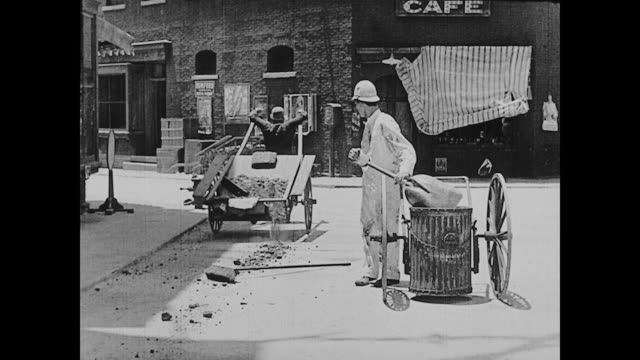 1922 Man (Buster Keaton) works as a street sweeper and becomes annoyed when he realizes his faulty trash can is leaving a trail of garbage