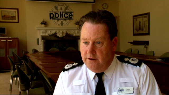 man wrongly jailed for sex attack speaks of ordeal; northamptonshire: deputy chief constable derek talbot interview sot northamptonshire police flag... - northamptonshire stock-videos und b-roll-filmmaterial