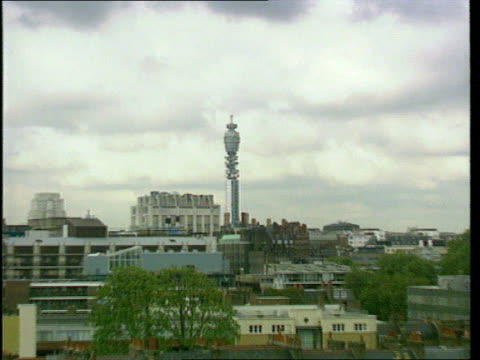 management shake up; e)ltn: caroline kerr lib england: london: ext gv bt tower zoom in - zoom in点の映像素材/bロール