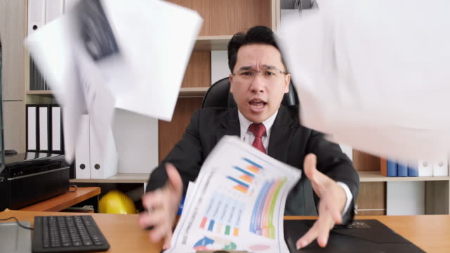 manager director scolding his employees - bossy stock videos & royalty-free footage