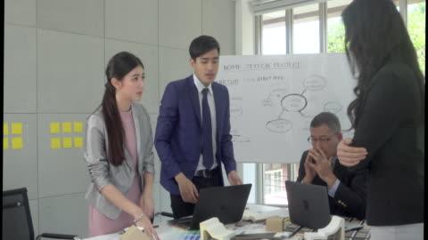 vidéos et rushes de gestionnaire fatigué dans la salle de réunion - contestant