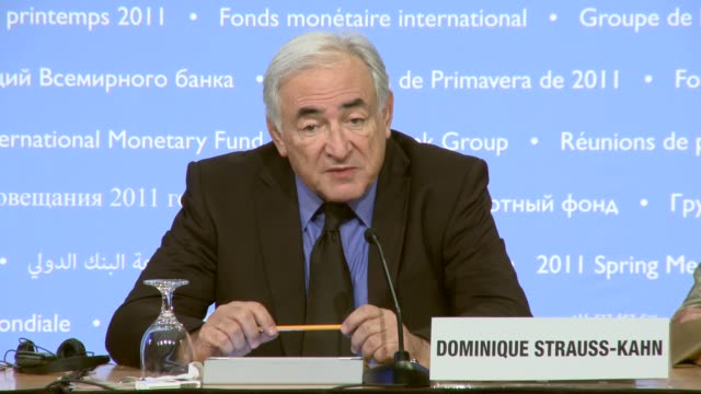 managing director dominique strauss-kahn at international monetary fund on april 14, 2011 in washington, dc - only mature men stock videos & royalty-free footage