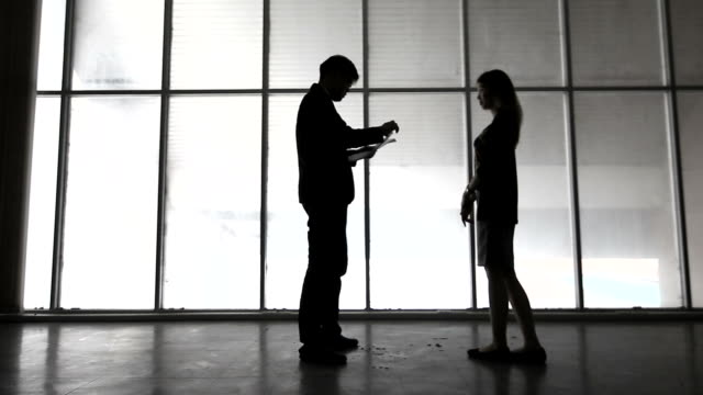 Managing Director Scolding His Employees, Silhoutte