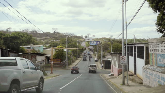 Managua street from a car