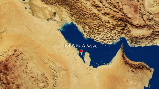 Manama - Bahrain Zoom In From Space