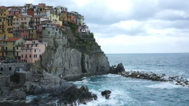 manarola town of cinque terre, italy - cinque terre stock videos and b-roll footage