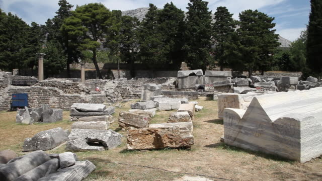 manastirine basilica and cemetery, an early christian complex, salona - archaeology stock videos & royalty-free footage
