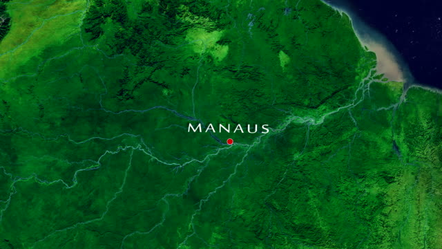 manaus 4k zoom in - amazonas state brazil stock videos and b-roll footage