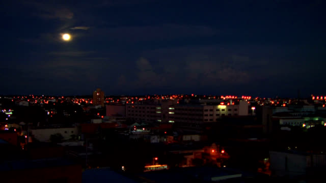 manaus moonrise time lapse - amazonas state brazil stock videos and b-roll footage