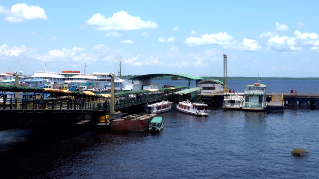 manaus port - amazonas state brazil stock videos and b-roll footage