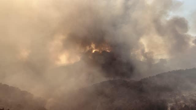 vídeos y material grabado en eventos de stock de incendio forestal de manavgat - turquía