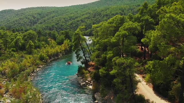 manavgat river, antalya, turkey - rafting stock videos & royalty-free footage
