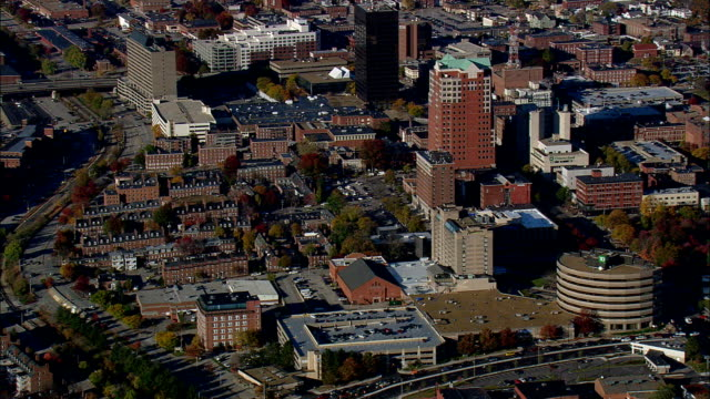 manchester  - aerial view - new hampshire,  hillsborough county,  united states - new hampshire stock videos & royalty-free footage