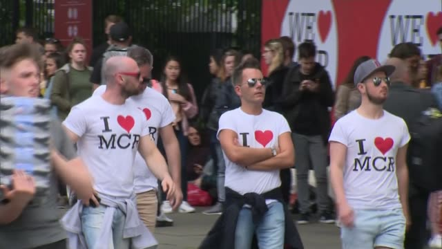 Ariana Grande headlines One Love Manchester concert to benefit victims ENGLAND Manchester Old Trafford Cricket Ground EXT Police van along Concert...