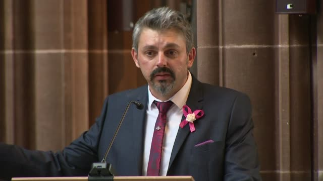 funeral of saffie roussos andrew roussos speaking during funeral service sot man with guitar congregation godmother of saffie struggling to sing... - godmother stock videos & royalty-free footage