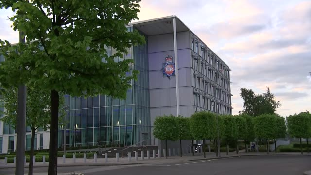 Greater Manchester Police headquarters building / press conference ENGLAND Manchester EXT Greater Manchester Police headquarters building / 'Greater...