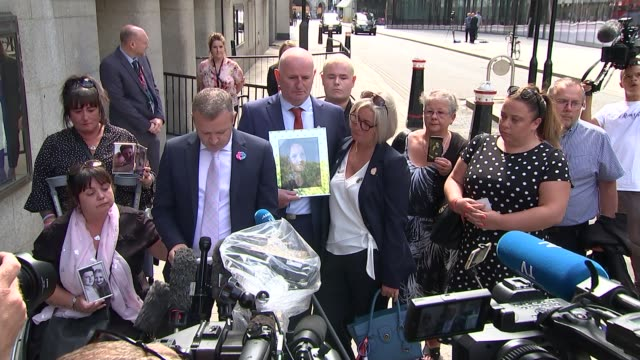 manchester arena attack: hashem abedi sentenced to minimum of 55 years in jail; england: london: old bailey: ext families of victims of manchester... - manchester arena stock videos & royalty-free footage
