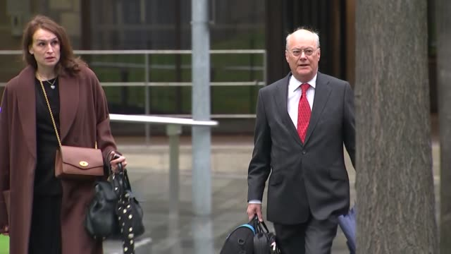 manchester arena attack inquiry: sir john sauders arrival; england: manchester magistrates court: ext sir john saunders arriving - manchester arena stock videos & royalty-free footage