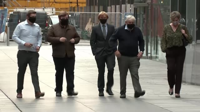 manchester arena attack inquiry: tributes paid to victims; england: manchester: ext gv family of nell jones arriving at court - manchester arena stock videos & royalty-free footage