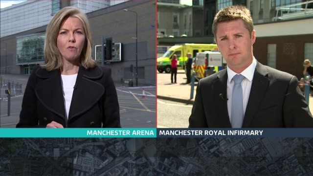 manchester arena attack: itv news special 13.00 - 13.55; ben chapman sot mary nightingale sot manchester / london: split screen mary nightingale /... - mary nightingale stock videos & royalty-free footage