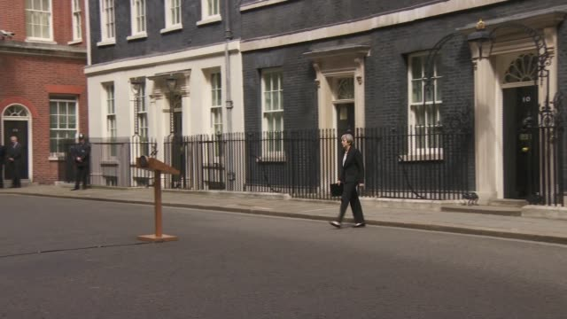 itv news special 1300 1355 london downing street theresa may along to lectern manchester greater manchester police theresa may and amber rudd towards... - greater london stock videos and b-roll footage