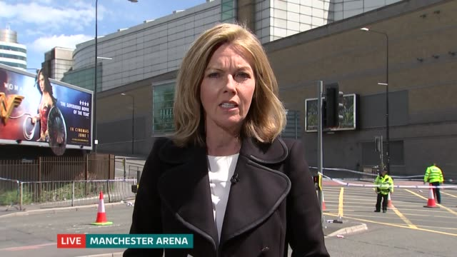 manchester arena attack: itv news special 13.00 - 13.55; manchester arena: day mary nightingale to camera sot - mary nightingale stock videos & royalty-free footage