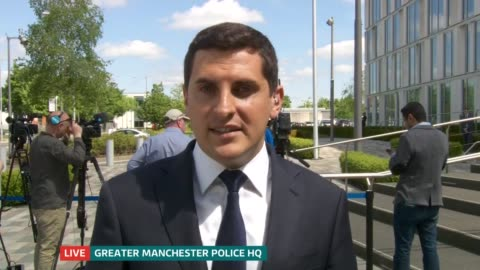 manchester arena attack: itv news special 13.00 - 13.55; manchester: split screen mary nightingale / peter smith sot peter smith sot manchester royal... - mary nightingale stock videos & royalty-free footage