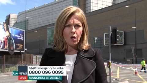 manchester arena attack: itv news special 13.00 - 13.55; mary nightingale and rohit kachroo sot manchester: rupert evelyn interviewing saj amin sot... - mary nightingale stock videos & royalty-free footage