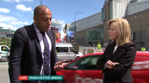 manchester arena attack: itv news special 13.00 - 13.55; mary nightingale to camera sot manchester deansgate / manchester arena / royal infirmary:... - mary nightingale stock videos & royalty-free footage