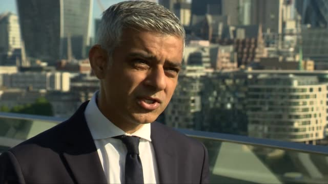 Sadiq Khan interview ENGLAND London City Hall EXT Sadiq Khan interview SOT re Manchester attack and security in London
