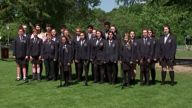 Tributes to Manchester victims Manchester EXT Pupils from Parrs Wood High School perform Ariana Grande song 'My Everything'