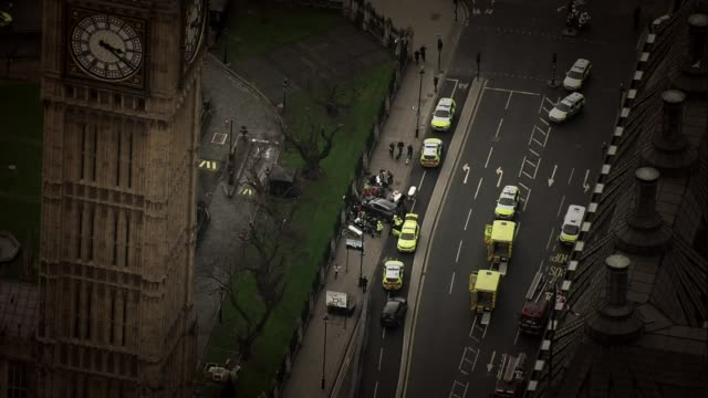 UK threat level raised from severe to critical 2232017 police vehicles around car used in Westminster terror attack